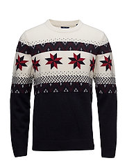 OP1. FAIRISLE CHRISTMAS CREW - NAVY