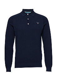 OP1. COTTON PIQUE RUGGER - EVENING BLUE