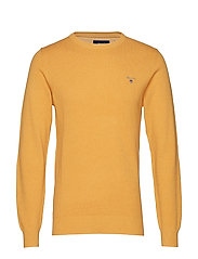 COTTON PIQUE CREW - GOLDEN YELLOW MEL