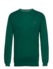 COTTON PIQUE CREW - IVY GREEN