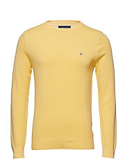 COTTON PIQUE CREW - LEMON