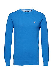 COTTON PIQUE CREW - PALACE BLUE