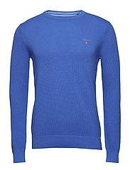 COTTON PIQUE CREW - PERIWINKLE BLUE