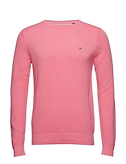 COTTON PIQUE CREW - PINK ROSE