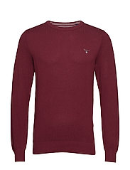 COTTON PIQUE CREW - PORT RED