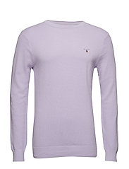 COTTON PIQUE CREW - SOFT VIOLET