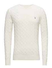 Gant COTTON CABLE CREW - CREAM