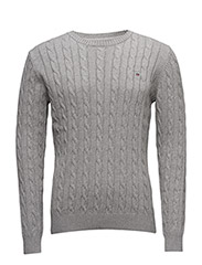 COTTON CABLE CREW - GREY MELANGE