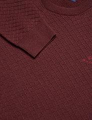 GANT - D1. COTTON TEXTURE CREW - basic knitwear - dk. burgundy mel - 2