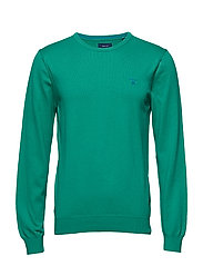 STRETCH COTTON CONTRAST CREW - CHARTER OAK