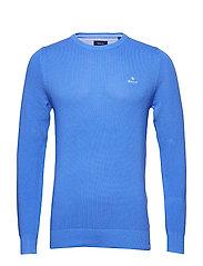 COTTON PIQUE C-NECK - PACIFIC BLUE