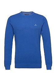 COTTON PIQUE C-NECK - STRONG BLUE