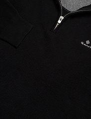 GANT - COTTON PIQUE HALF ZIP - half zip - black - 2