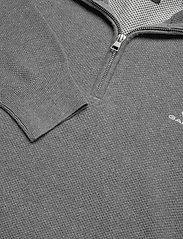 GANT - COTTON PIQUE HALF ZIP - half zip - dark grey melange - 2