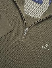 GANT - COTTON PIQUE HALF ZIP - half zip - dark leaf - 2