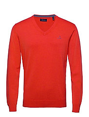 CLASSIC COTTON V-NECK - ATOMIC ORANGE MEL