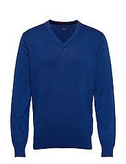 CLASSIC COTTON V-NECK - CRISP BLUE