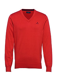CLASSIC COTTON V-NECK - FIERY RED