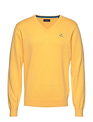 CLASSIC COTTON V-NECK - MIMOSA YELLOW