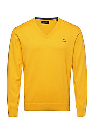 CLASSIC COTTON V-NECK - SOLAR POWER YELLOW