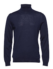 FINE MERINO TURTLE NECK - EVENING BLUE