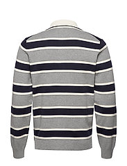 D1. KNITTED STRIPED RUGGER