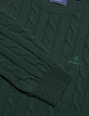 GANT - D2. LAMBSWOOL CABLE CREW - knitted round necks - tartan green - 2