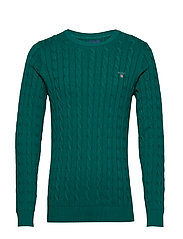 COTTON CABLE CREW - IVY GREEN