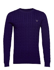 COTTON CABLE CREW - PARACHUTE PURPLE