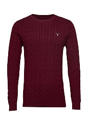 COTTON CABLE CREW - PORT RED