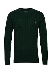 COTTON CABLE CREW - TARTAN GREEN