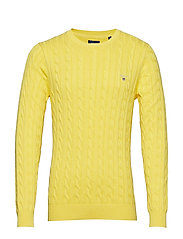 COTTON CABLE CREW - YELLOW MELANGE