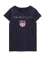 GANT SHIELD LOGO SS T-SHIRT - EVENING BLUE