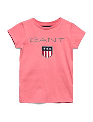GANT SHIELD LOGO SS T-SHIRT - STRAWBERRY PINK