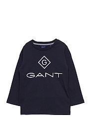 GANT LOCK-UP LS T-SHIRT - EVENING BLUE