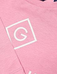 GANT - GANT LOCK-UP LS T-SHIRT - long-sleeved t-shirts - sea pink - 2