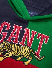 GANT - D2. TIGER HOODIE - hoodies - lavish green - 2