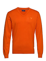 LIGHT WEIGHT COTTON V-NECK - HARVEST PUMPKIN