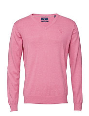 LT. WEIGHT COTTON V-NECK - PINK EMBRACE MEL