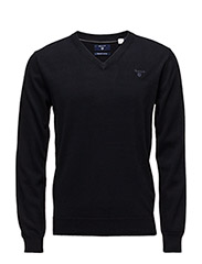 LT. WEIGHT COTTON V-NECK - NAVY