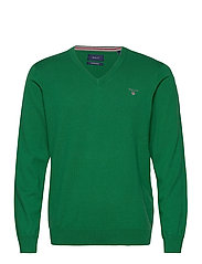 COTTON WOOL V-NECK - KELLY GREEN