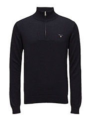 COTTON WOOL ZIP - NAVY