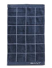 WINDOW CHECK TOWEL 30X50 - SATEEN BLUE