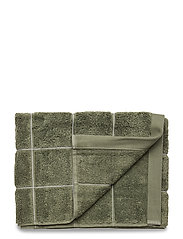 WINDOW CHECK TOWEL 50X100 - AGAVE GREEN