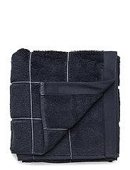 WINDOW CHECK TOWEL 50X100 - SATEEN BLUE