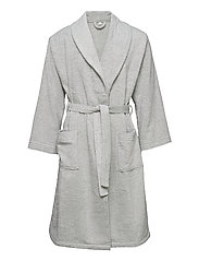 ORGANIC TERRY BATHROBE - LIGHT GREY
