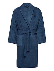 ORGANIC TERRY BATHROBE - YANKEE BLUE
