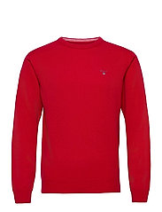 SUPERFINE LAMBSWOOL CREW - BRIGHT RED