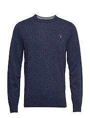 SUPERFINE LAMBSWOOL CREW - DARK NAVY MELANGE