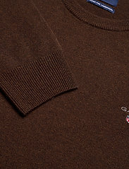 GANT - SUPERFINE LAMBSWOOL CREW - basic knitwear - dk brown melange - 2